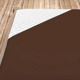 Napínací jersey prostěradlo hnědé 100x200 cm jednolůžko - standard Jersey