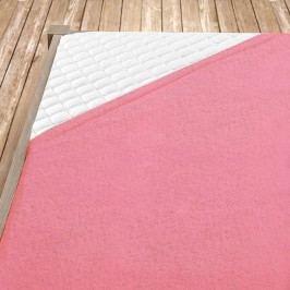 Napínací froté prostěradlo světle růžové 180x200 cm dvojlůžko - standard Froté