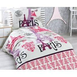 Povlečení Paris lila jednolůžko - standard; přikrývka: 1ks 140x200 cm; polštář: 1ks 90x70 cm; Bavlna