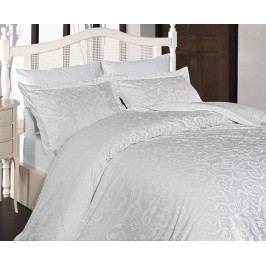 Povlečení Sweta bílé dvojlůžko - standard; přikrývka: 1ks 220x200 cm; polštář: 2ks 90x70 cm; Bavlněný satén