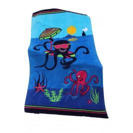Dětská plážová osuška Octopus 70x140 cm; 320 gr/m2 modrá