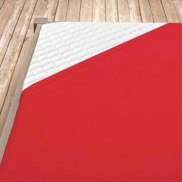 Napínací jersey prostěradlo červené 140x200 cm jednolůžko Jersey