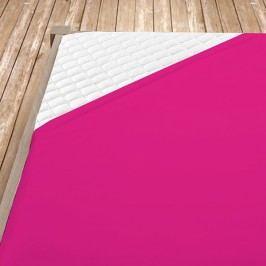 Napínací jersey prostěradlo fuchsiové 100x200 cm jednolůžko - standard Jersey
