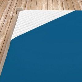 Napínací jersey prostěradlo tmavě modré 140x200 cm jednolůžko Jersey