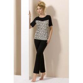 Elegantní dámské pyžamo Lady Black M černá/bílá
