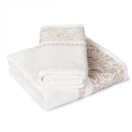 Dárková sada ručníků Eleonora ecru Set: 1 ks 50x90 cm; 1 ks 70x140 cm; 500 gr/m2 Ecru