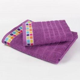 Ručník Mozaika - fialový 50x90 cm; 430 g/m2; Ručník