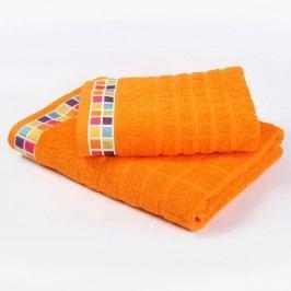 Ručník Mozaika - oranžový 50x90 cm; 430 g/m2; Ručník