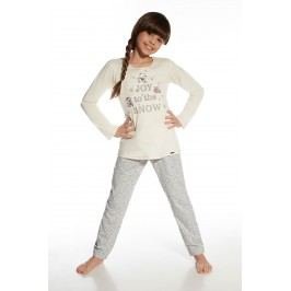Dívčí pyžamo Three Bears 86/92 ecru/šedá