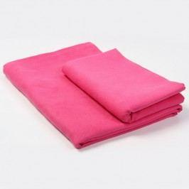 Funkční ručník a osuška růžová Set: 1 ks 50x90 cm; 1 ks 70x140 cm; Růžová