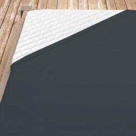 Tmavě šedé bambusové jersey prostěrdlo Jednolůžko Bambus - jersey