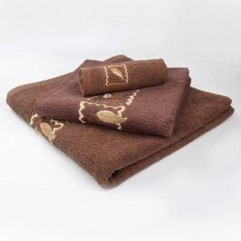 Ručník Grácie - čokoládový 30x50 cm; 450 g/m2; Ručník malý
