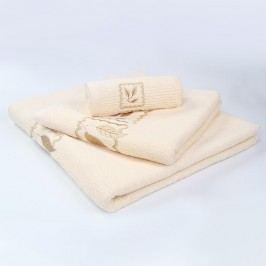 Ručník Grácie - krémový 30x50 cm; 450 g/m2; Ručník malý