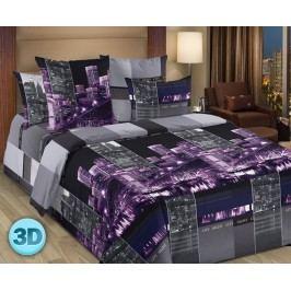 3D povlečení City Night jednolůžko - standard; přikrývka: 1ks 140x200 cm; polštář: 1ks 90x70 cm; Bavlna