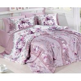 Saténové povlečení Vintage lila jednolůžko - prodloužené; přikrývka: 1ks 140x220 cm; polštář: 1ks 90x70 cm; Bavlněný satén