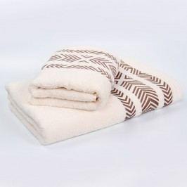 Bambusový ručník Tara - ecru 50x90 cm; 440 g/m2; Ručník