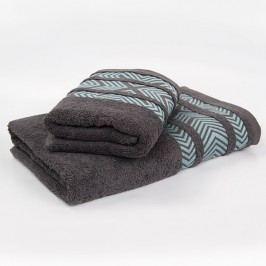 Bambusový ručník Tara - šedý 70x140 cm; 440 g/m2; Osuška