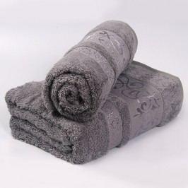 Bambusový ručník Verde - šedý 50x90 cm; 440 g/m2; Ručník