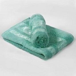 Bambusový ručník Bella - mátovotyrkysový 70x140 cm; 440 g/m2; Osuška