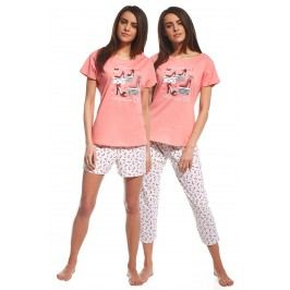 3dílný set dámského pyžama Red Shoes M růžová