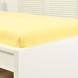 Napínací prostěradlo jersey žluté Dětská postýlka Bavlna - jersey