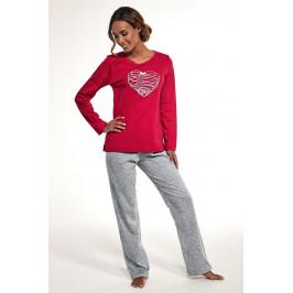 Dámské bavlněné pyžamo Heart  červená