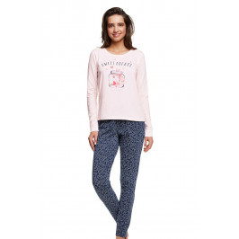 Dámské bavlněné pyžamo Hearty  růžová