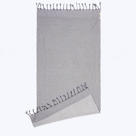 Plážová osuška Kikoy šedomodrá 90x180 cm šedá