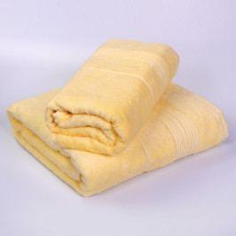 Set 2 bambusových ručníků Moreno - vanilkový Set Dvoudílný set