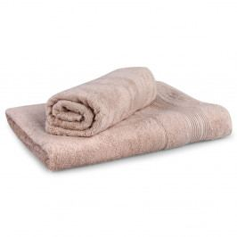 Dárková sada ručníků Moreno béžová Set Dvoudílný set