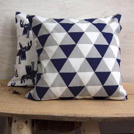 Povlak na polštářek Romby modrý 40x40 cm bavlna