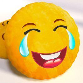 Dekorační polštář smajlík LOL 40x40 cm žlutá