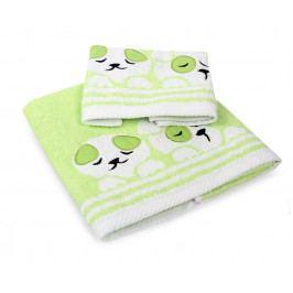 Dětský ručník Dogs zelený 30x50 cm Ručník malý