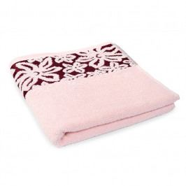 Ručník Fiore růžový 50x90 cm Ručník