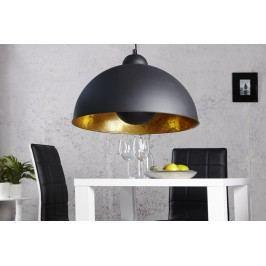 Visící lampa CORVUS - černá / zlatá