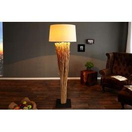 Stojací lampa EUPHORIA 180 cm - přírodní / bílá