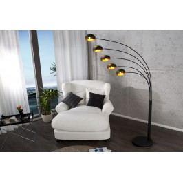 Stojací lampa FIWE - černá / zlatá