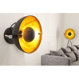 Nástěnná lampa STUIDO - černá / zlatá