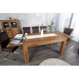 Masivní jídelní stůl MARAGOS 160-240x100 cm - přírodní