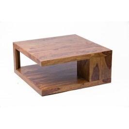 Masivní konferenční stolek MARAGOS 90x90 cm - přírodní