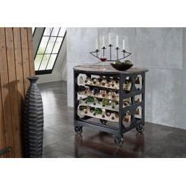 INDUSTRY servírovací stolek #03, litina a staré dřevo