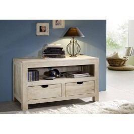 WHITE WOOD TV stolek malovaný akátový nábytek