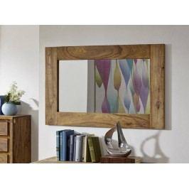Sheesham zrcadlo, masivní palisandrové dřevo LIGHT WOOD #841