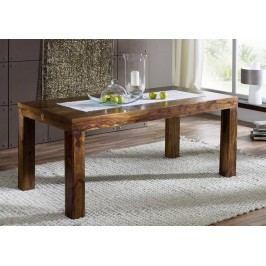 Sheesham jídelní stůl 140x90, masivní palisandrové dřevo CUBUS DAKOTA #169