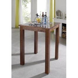 Koloniální barový stůl 85x85 masív akát CAMBRIDGE #517