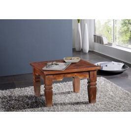Koloniální  konferenční stolek 60x60 masivní akátové dřevo GEOFFREY CAMBRIDGE #426