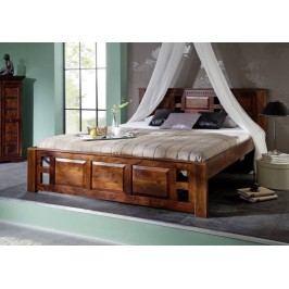 Koloniální postel 200x200 masivní akátové nábytek CLASSIC CAMBRIDGE #254