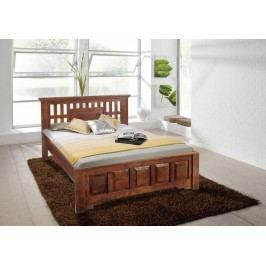 Koloniální postel 200x200 masivní akátový nábytek CLASSIC CAMBRIDGE #264