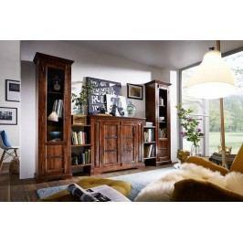 Koloniální obývací stěna, masívny akátový nábytek CAMBRIDGE #600