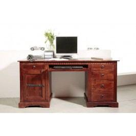 Koloniální psací stůl, masivní akátové dřevo CAMBRIDGE #522